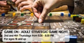 Game On –Adult Strategic Game Night