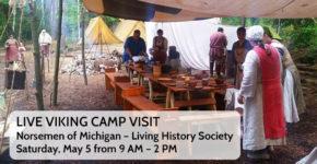 LIVE Viking Camp Visit