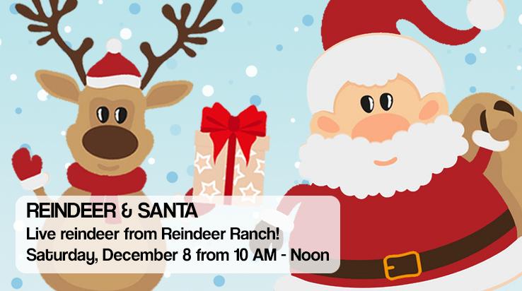 Reindeer & Santa